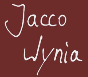 Logo Jacco Wynia Official Website Red